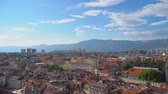 dalmatia : Panoramic view on the old town of Split, Croatia. Stock Footage