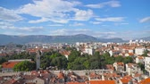 hırvatistan : Panoramic view on the old town of Split, Croatia. Stok Video