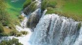 dalmácia : Beautiful view of the waterfall in KRKA national park, Croatia.