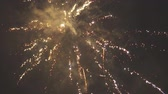 салют : Fireworks in the sky. New year celebration.