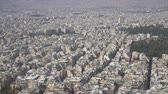 Aerial view on rooftops and houses in Athens, Greece.