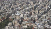 megalopolis : Aerial view on rooftops and houses in Athens, Greece.