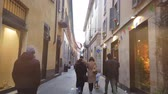 Fast motion video in the old town.
