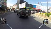 shaky : Phuket Town - 26 DEC 2016: Speed driving through busy Phuket Town on the motorbike. GoPro timelapse HD. Thailand