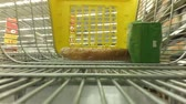 cart n corrugado : Timelapse of the cart in a supermarket. Stock Footage