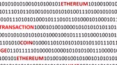 etherium : Background from a program code and cryptocurrencies. Stock Footage