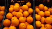 delicious : Oranges in a supermarket. Stock Footage