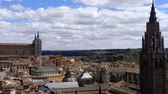toledo : Spain. The cathedral of Saint of Maria in Toledo. Timelapse. The Primate Cathedral of Saint Mary of Toledo. Stock Footage
