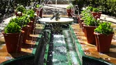 galeria : The fountain in the yard of the house-museum of Sorolla. Slow motion. Shooting in Madrid.