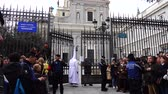 koníčky : MADRID, SPAIN - MARCH 25, 2018: The celebrations of the Holy Week in Madrid, began at the Cathedral of La Almudena with the solemn Mass of the Palm Trees, with the blessing of the palms and the bouquets.