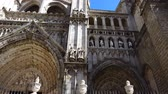 marmur : The Primate Cathedral of Saint Mary of Toledo. Spain. Shooting in the movement.