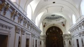 ildefonso : Interior of the San Ildefonso Church (Iglesia de San Idelfonso). Jesuit temple, pearl of architectural baroque. Stock Footage