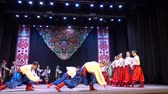 koraliki : BERDYANSK, UKRAINE - APRIL 20, 2018: Ukrainian national dances.