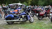 karpaty : YAREMCHE, UKRAINE - JULY 5: Unknown people at the 9th international festival of bikers Wild fire on July 5, 2015