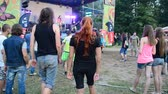 carpathians : YAREMCHE, UKRAINE - JULY 5: Unknown people at the 9th international festival of bikers Wild fire on July 5, 2015