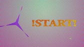 siker : Animation with the word the start Stock mozgókép