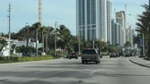 richtung : Die Route in Miami, USA. Stock Footage