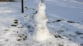 sněhulák : Snowman in the winter