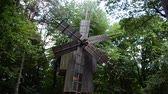 lviv : Wooden windmill in ukrainian skansen