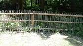 open air museum : Fence in ancient style. Stock Footage