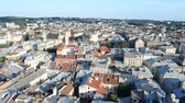 lviv : Roofs of houses. Stock Footage