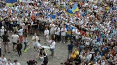chant : LVIV, UKRAINE - JILY 22, 2014: Fans of soccer