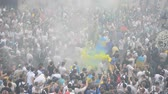chant : Lviv, Ukraine - 22 juillet 2014: fans de football