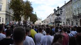 verificador : LVIV, UKRAINE - JULY 22, 2014: Fans of soccer Stock Footage