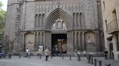 ildefonso : BARCELONA, SPAIN - OCTOBER 18, 2013: Santa Maria del Pi. timelapse. Stock Footage
