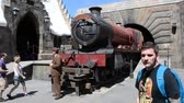 old suitcase : ORLANDO, USA - MARCH 25, 2014: Harry Potter, train. Universal studios orlando