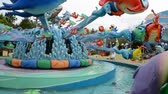 pony : ORLANDO, USA - MARCH 25, 2014: Universal Studio park in Orlando. Stock Footage