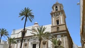 oblouk : Wonderful cathedral of neoclassical style. City of Cadiz, Spain, Andalusia.