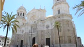 построен структуры : Wonderful cathedral of neoclassical style. City of Cadiz, Spain, Andalusia.