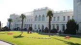 efsane : Livadia Palace. Shooting in the Crimea. Stok Video