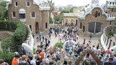 antonio : Park Guell, a municipal garden designed by Antoni Gaudi. Built in 1900 - 1914.