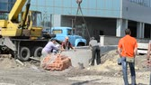 cantiere edile : Process of construction of the railway station. Filmati Stock