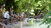 pólus : BELDIBI, TURKEY - JUNE 11: Trout fishing at the Belize Resort & Spa on June 11, 2012 in Beldibi, Turkey.