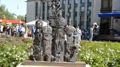 "kunsthandel : Internationales Festival der Schmiedekunst ""Park of Forge Figures - 2011"" Stock Footage"
