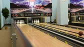 bowling alley : Bowling Sport in amusement park.