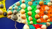 plasticina : The model of fish from plasticine and shells Stock Footage