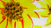 floral ornament : Draw sunflowers. Time lapse. Stock Footage