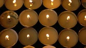 декоративный : Candles on a black background.