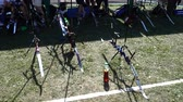 ブルズアイ : LVIV, UKRAINE - SEPTEMBER 09, 2019: Participants fifty-sixth International archery competitions Golden autumn 2019.
