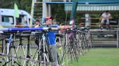 стрельба из лука : LVIV, UKRAINE - SEPTEMBER 09, 2019: Participants fifty-sixth International archery competitions Golden autumn 2019.