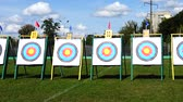 стрельба из лука : Targets for archery. Shooting in the summer.