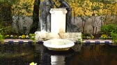 flowerpot : MADRID, SPAIN - MARCH 27, 2018: The fountain in the yard of the house-museum of Sorolla. The house has been built in 1909 - 1910.