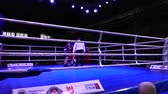 csata : LVIV, UKRAINE - DECEMBER 4, 2019: Ukrainian Youth Boxing Championships.