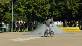 kaykay : LATVIA, VENTSPILS, JULY 29, 2017: Skateboarding Show Ghetto Games. Ghetto games is biggest in Baltic countries sport summer x games festival in Ventspils,Latvia.