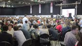 game : RUSSIA, TOGLIATTI 27 APRIL 2016: A lot of people sitting at the tables indoors.