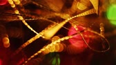 farce : Abstract blurred Christmas lights bokeh background Stock Footage